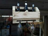 Brand new rustic reclaimed wood wine rack. £10 Redcar Ings