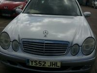 MERCEDES BENZ E220 CDI ELEGANCE LEATHER DIESEL AUTOMATIC 4DR SERVICE HISTORY