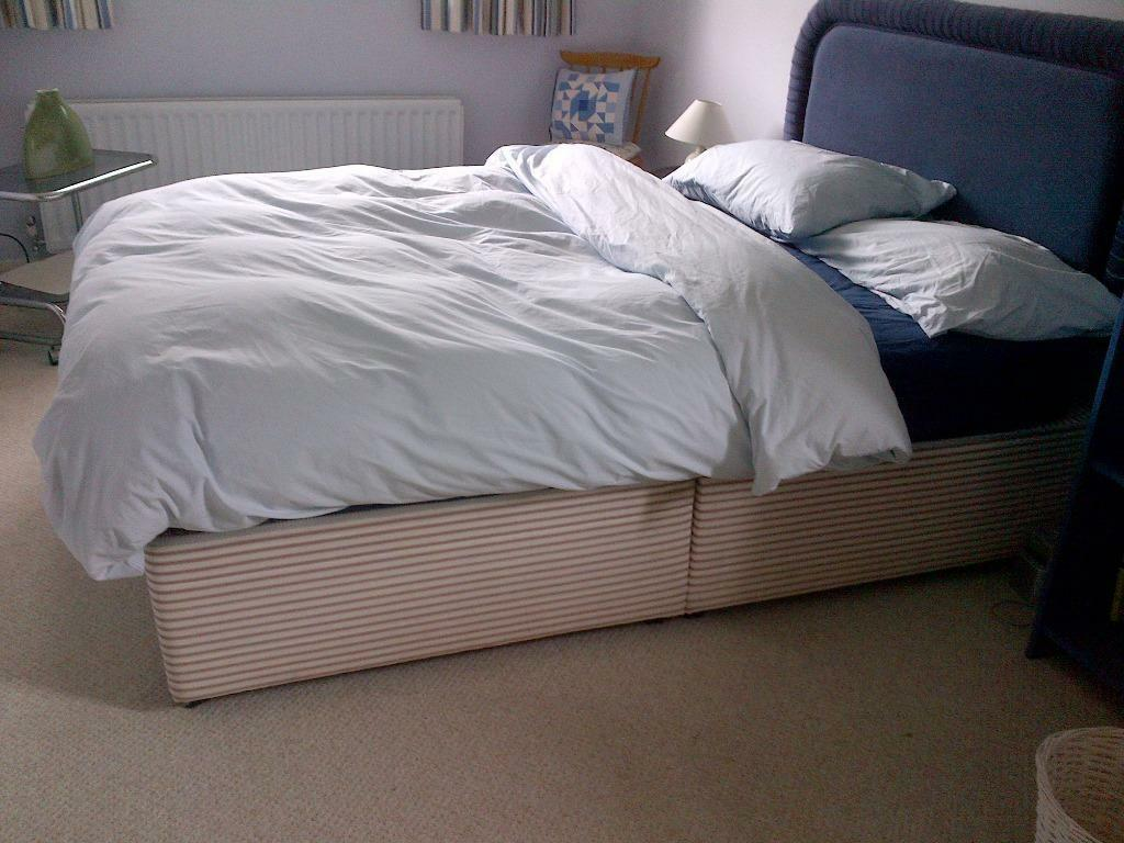 Double divan bed with headboard in sevenoaks kent gumtree for Double divan bed no headboard