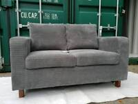 NEW Beige Mink Soft Cord 2 Seater Sofa DELIVERY AVAILABLE