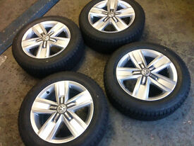 4 x Genuine VW Transporter T6 Alloy Wheels and Goodyear tyres