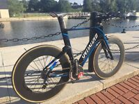 Specialized SHIV TT Time Trial Aero Carbon Wheels Like New!