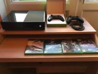XBOX One 500GB with *TWO* Original Controllers & 4 Games (Forza 6, PES 2017, Gears of War 4...)
