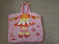 Baby/toddler girls Upsy Daisy Poncho hooded swim/beach towel