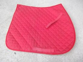 Two Saddle Pads (Full) - 1 red, 1 blue