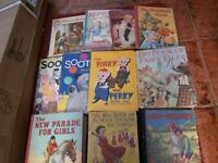 11 old Children's books, dating from 1935 to 1950's
