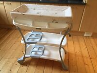 Baby changing trolley and bath (Purchased in Mamas & Papas for £119 earlier this year)