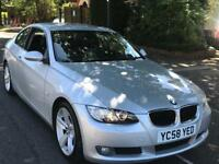 BMW 320D 2009 ** COUPE ** HEATED LEATHER SEATS ** PARKING SENSORS ** 12 MONTH MOT ** NEW CLUCH **