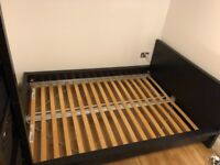 Ikea MALM Bed Frame, Low, with Slats | Black-Brown/Luröy | Mattress size: 140 x 200 cm