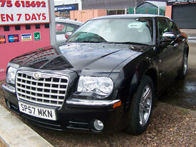 57 plate late 2007 low milage chrysler 300c massive spec new mot only £6495