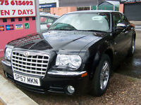 57 plate late 2007 low milage chrysler 300c massive spec new mot only £5995