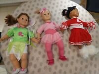 3 large smoby female dolls with clothes (3 dolls for £10)