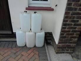 25 litre plastic jars