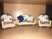 Sylvanian floral furniture set