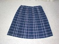 Ladies Lined Pleated Skirt