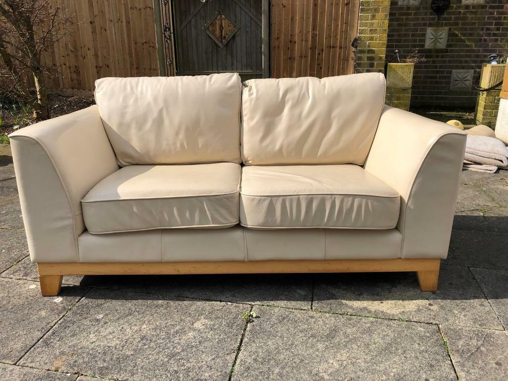 cream leather sofa john lewis in peterborough. Black Bedroom Furniture Sets. Home Design Ideas