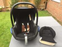 Maxi cosy cabrio baby seat, c/w baby booster section.