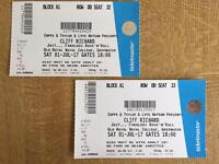 2 ✖️Cliff Richard Tickets Greenwich Sat 1 July 2017