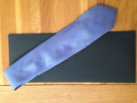 Calvin Klein blue/lilac silk tie (worn once only for a wedding) JUST REDUCED