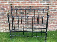 Vintage Iron Double Bed with Base.