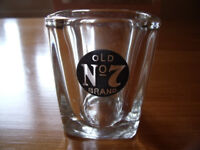 Jack Daniel's Old No. 7 Brand small square shot glass. Excellent condition. £2.50.