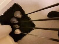 mixture of golf clubs