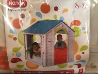 Keter Plastic Holiday playhouse - brand new