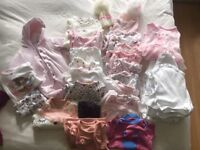 Baby girl clothes new born/0-3