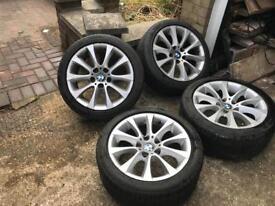 """Bmw 17"""" Genuine Alloy wheels E90 E92 E92 Staggered 335i 1 Series Tyres E46"""