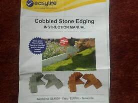 Terracotta style cobbled stone edging