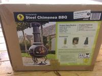 La Hacienda Steel Chimenea BBQ