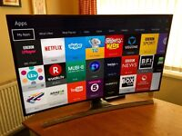 "48"" SAMSUNG UE48JS8500 -QUANTUM DOT- SUHD -Nano Crystal- 3D Curved LED TV -1900hz- Freeview/Sat HD"