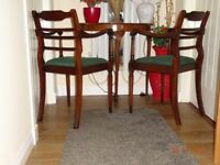 2 Carver style dining chairs pre 50s
