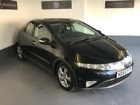 HONDA CIVIC 1.8 I-VTEC/55REG/COMES WITH FULL MOT + 3 MONTHS WARRANTY/IMMACULATE EXAMPLE