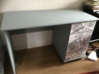 Stunning Wooden desk with 3 drawers. Timorous Beasties design.