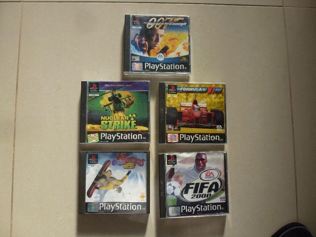 5x Playstation 1 Games Bundle - 007, Nuclear Strike, Formula 1, Fifa, & Cool Boarders 2 - Birthday
