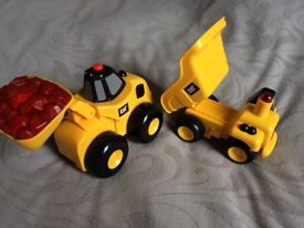 Motorised CAT Trucks with Sounds and Lights x 2