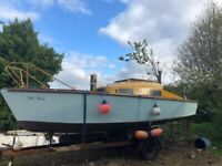 23 ft Wooden Sailing Boat / Yacht for sale  Larne, County Antrim