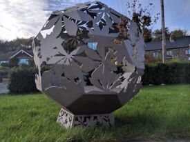 bespoke hand made autumn leaves design fireball a firepit with the wow factor