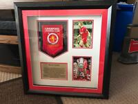 Signed Steven Gerrard FA Cup Display - Offers Considered