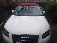 Audi A3 convertible 2.0TDI Sport ibis White red roof fine red Nappa heated leather sports seats