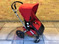 Red Bugaboo Cameleon - Excellent Condition - Also Includes Footmuff, Breezy Canopy and Cup Holder!!
