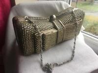 Accesorize Gold Clutch Party Evening bag used