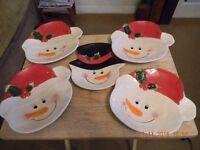 novel christmas plates