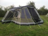 Outwell Montana 6P tent plus footprint carpet awning cooker roof protector electric cable tables etc