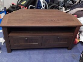 Corner Unit DARK BROWN great condition 44 inches long-- 22 inches high-- 20 inches depth