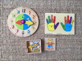 Great Wooden Learning Bundle Puzzles Montessori Melissa & Doug