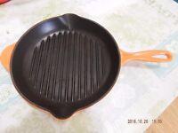 Volcanic Orange Le Creuset 26cm griddle pan