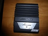 alpine v power mrp-t220 car amplifier amp 250 watts
