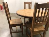 Pine table and chairs with FREE DELIVERY